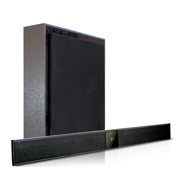 מקרן קול Bluetooth כולל יחידת סאב וופר אלחוטית בעיצוב דק במיוחד מבית Pure Acoustics דגם SBW-220