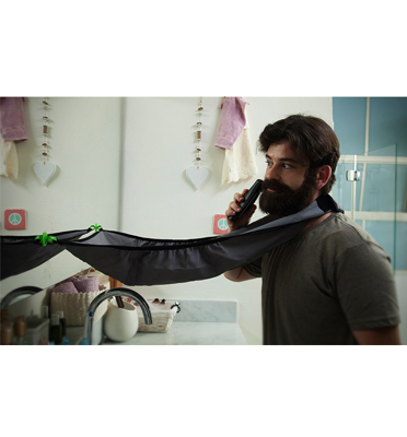 סינר לאיסוף השערות והזיפים ושמירה על חדר אמבט נקי, בקלות וביעילות. תוצרת BABYLISS דגם SINAR-007