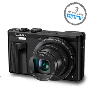 """מצלמה דיגיטלית 18MP זום אופטי X60 חכם מסך LCD 3"""" מתכונן תוצרת PANASONIC דגם TZ80"""