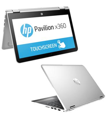 """מחשב נייד 13.3"""" 6GB מעבד Intel® Core™ i3 תוצרת HP Pavilion x360 דגם 13-u002nj"""