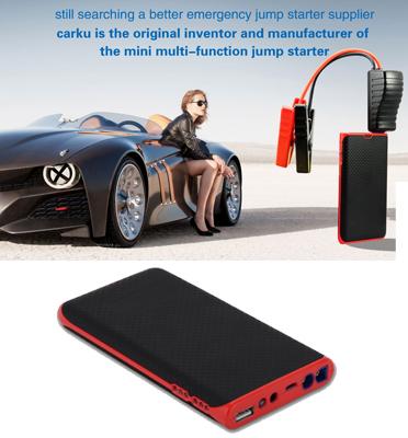 סוללת חירום להתנעת הרכב, טעינת סמארטפון/טאבלט ופנס לד מובנה תוצרת CARKU דגם Epower 22