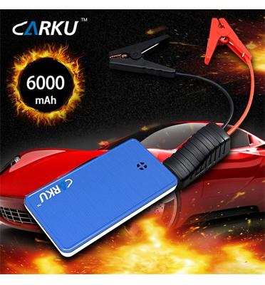 סוללת חירום להתנעת הרכב, טעינת סמארטפון/טאבלט ופנס לד מובנה תוצרת CARKU דגם Epower 10