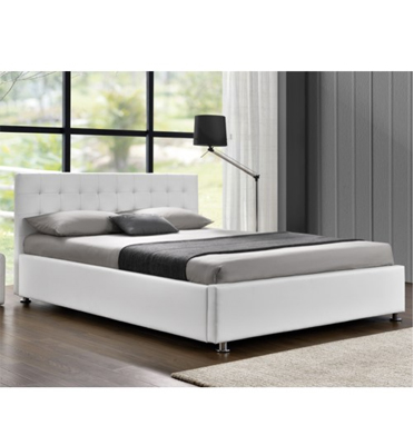 מיטה זוגית מעוצבת בריפוד דמוי עור עם ארגז מצעים HOME DECOR דגם בילי
