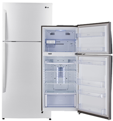 מקרר מקפיא עליון 381 ליטר No Frost בגימור לבן תוצרת LG דגם GRB440INVW