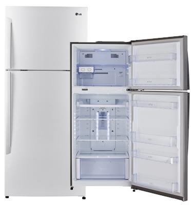 מקרר מקפיא עליון 425 ליטר No Frost בגימור לבן תוצרת LG דגם GR- B485INVW