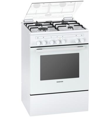 תנור אפייה משולב כיריים גז בעיצוב חדשני בצבע לבן תוצרת קונסטרוקטה דגם CH755721IL