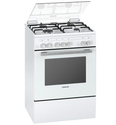 תנור אפייה משולב כיריים גז בעיצוב חדשני בצבע לבן תוצרת קונסטרוקטה דגם CH755720IL
