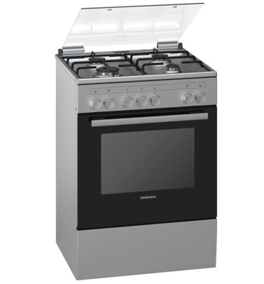 תנור אפייה משולב כיריים גז בעיצוב חדשני בגימור נירוסטה תוצרת קונסטרוקטה דגם CH755750IL
