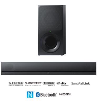 מקרן קול עם סאב וופר אלחוטי ו- Bluetooth 3.0 תוצרת SONY דגם HTC-T390