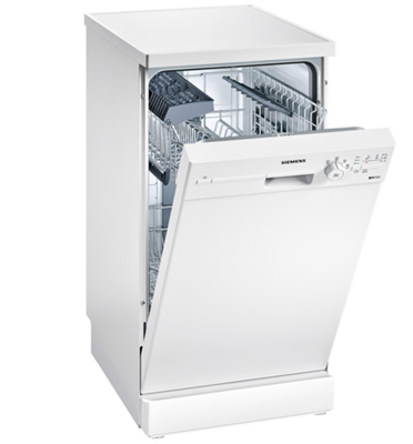 """מדיח כלים צר 45 ס""""מ speedMatic צבע לבן תוצרת SIEMENS דגם SR24E205EU"""