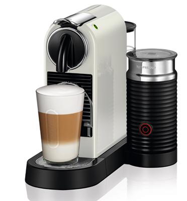 מכונת קפה Nespresso דגם סיטיז אנד מילק בצבע לבן דגם D122