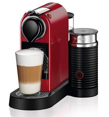 מכונת קפה Nespresso דגם סיטיז אנד מילק בצבע אדום דגם C122
