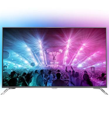 """טלוויזיה 49"""" LED Android TV- 4K Ultra HD תוצרת PHILIPS דגם 49PUS7101"""
