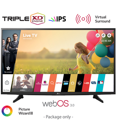 "טלוויזיה 49"" LED Smart TV Full HD פנל IPS, אינדקס עיבוד תמונה PMI 450 תוצרת LG דגם 49LH590Y"