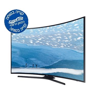 """טלוויזיה 55"""" מסך קעור Curved UHD TV-SMART TV Slim LED תוצרת SAMSUNG. דגם UE55KU7350"""