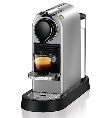 מכונת קפה Nespresso  סיטיז בצבע כסוף דגם C112