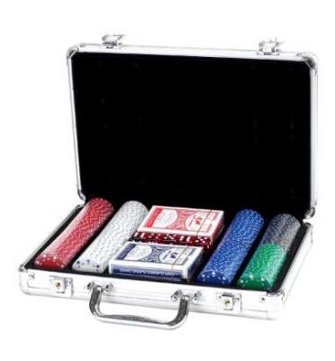 מזוודה איכותית לפוקר 200 ז'יטון 11.5 גרם מבית SHIROCO דגם סוט
