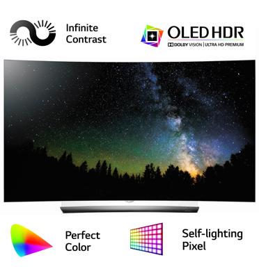 """טלוויזיה 65"""" קעורה תלת מימד, בטכנולוגיית OLED, ברזולוציית 4K Ultra HD תוצרת .LG דגם OLED 65C6Y"""