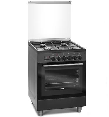 תנור משולב כיריים בגימור שחור SAUTER דגם TSF6620B