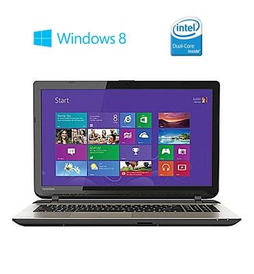 """מחשב נייד 17.3"""" 4GB, מעבד dual core תוצרת TOSHIBA דגם L75-B7260- מוחדש"""