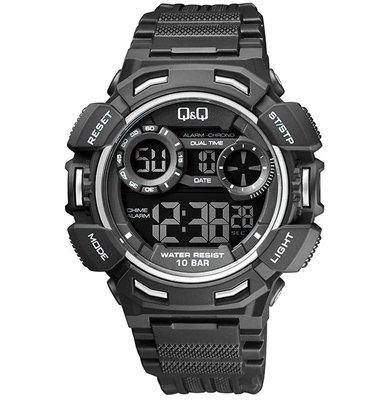 שעון יד דיגיטלי לגבר עם סטופר, טיימר, שעון מעורר ותאורה מבית Q&Q דגם QS-M148J003Y