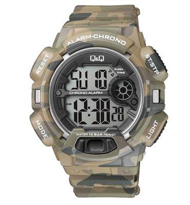 שעון יד דיגיטלי לגבר עם סטופר, טיימר, שעון מעורר ותאורה מבית Q&Q דגם  QS-M132j00