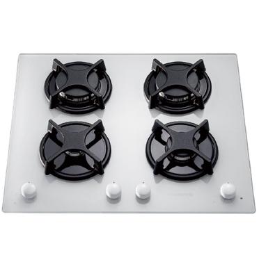 כיריים גז על משטח זכוכית ROSIERES דגם RTV640-FRBISR בצבע לבן