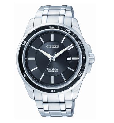 שעון לגבר טעינה סולארית ECO DRIVE ללא צורך בסוללה עשוי S.TITANIUM מבית CITIZEN דגם CIBM692051E