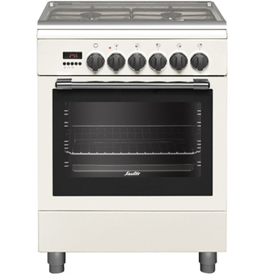 תנור משולב כיריים בגימור לבן SAUTER דגם TSF6620W