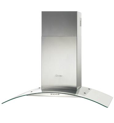 קולט אדים ארובה 90 ס''מ נירוסטה זכוכית מבית CANDY דגם CGM91/1X