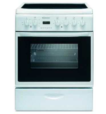 """תנור משולב כיריים ברוחב 60 ס""""מ בגימור לבן מבית CANDY דגם CCV6525W"""