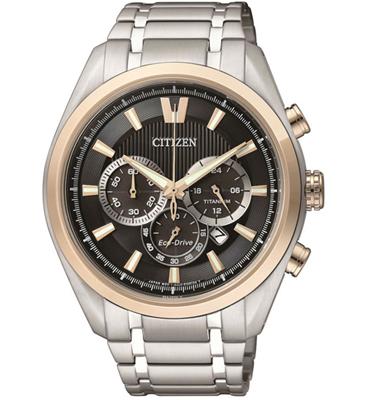 שעון כרונוגרף ECO DRIVE טעינה סולארית וזכוכית ספיר מבית CITIZEN מותג CI-CA401457E
