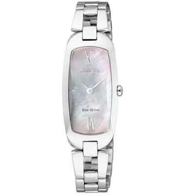 שעון יד לאישה ECO DRIVE טעינה סולארית עם לוח אם הפנינה מבית CITIZEN דגם CI-EX110051D