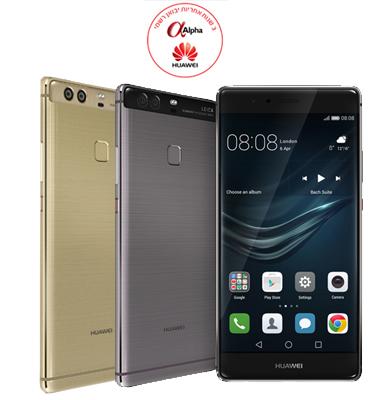 """סמארטפון 64GB מסך 5.5"""" מצלמה אחורית 2x12MP תוצרת Huawei דגם P9 Plus"""