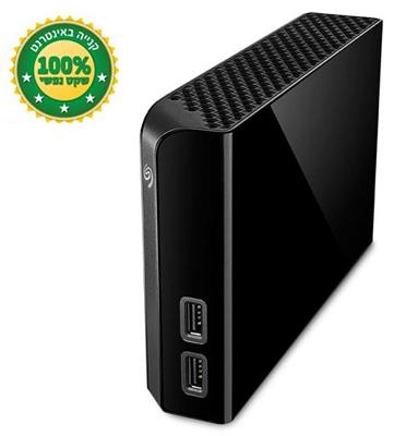 """דיסק קשיח שולחני 3.5"""" המשמש כ-HUB בנפח 4000GB בחיבור מהיר USB 3.0 מבית SEAGATE דגם STEL4000200"""
