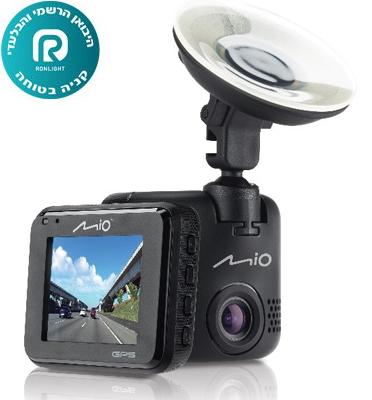 מצלמת דרך full HD 1080p עדשה רחבה 130 מעלות GPS מובנה מבית Mio דגם MIVUE C330