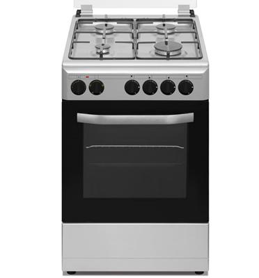 """תנור אפייה משולב גז 4 מבערים ברוחב 50 ס""""מ  גימור נירוסטה תוצרת NEON דגם NE- 505N"""
