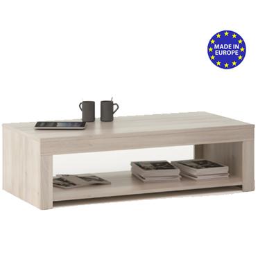 שולחן סלון עם מדף תחתון HOME DECOR דגם רובי אלון