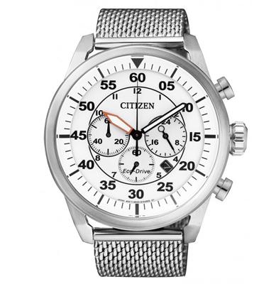 שעון יד כרונוגרף לגבר ECO DRIVE ללא צורך בסוללה מבית CITIZEN דגם CI-CA421059A