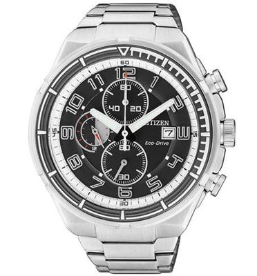 שעון יד כרונוגרף לגבר עם טעינה סולארית ECO DRIVE ללא צורך בסוללה מבית CITIZEN דגם CL-CA049052E