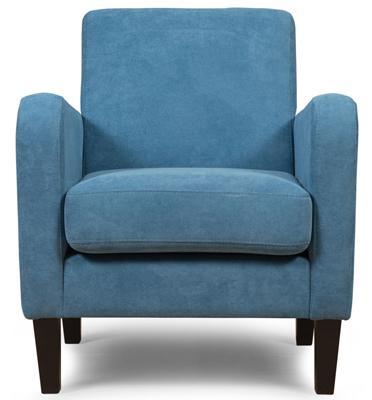 כורסא מעוצבת מבד קטיפתי רך ונעים למגע מבית BRADEX דגם RUDI