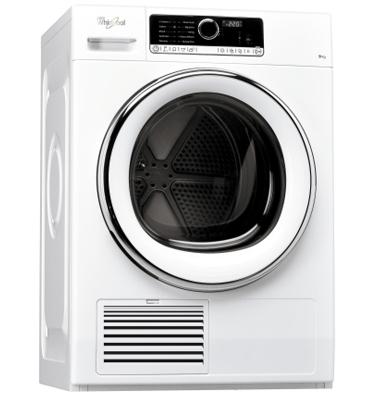 """מייבש כביסה 9 ק""""ג פתח חזית קונדנסור בטכנולוגיה החוש השישי! תוצרת Whirlpool דגם DSCX90121"""