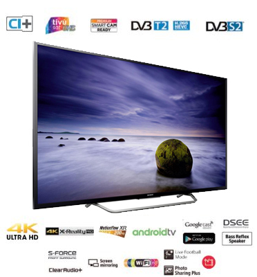 """טלוויזיה 49"""" 4K ULTRA HD HDR Android TV תוצרת SONY דגם KD-49XD7005BAEP"""
