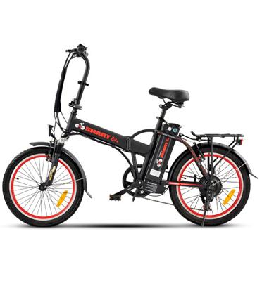 אופניים חשמליים מנוע 250 וואט סוללה 10 אמפר מבית SMART BIKE דגם S1 +מנעול ומתקן לנייד