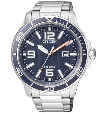 שעון יד לגבר עם טעינה סולארית ECO DRIVE ללא צורך בסוללה מבית CITIZEN דגם CI-AW152051L