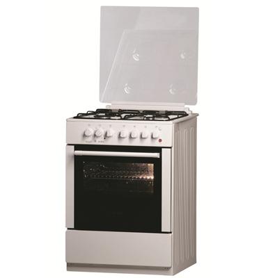תנור משולב סטטי 4 מבערי SABAF תא אפייה ללא תפרים תוצרת Bellers דגם BLV678W בצבע לבן