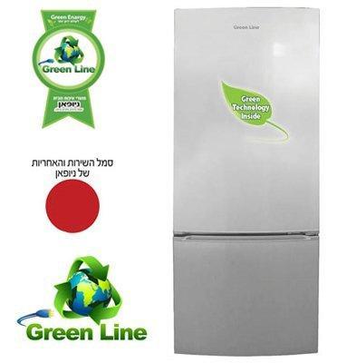 מקרר עם מקפיא תחתון 508 ליטר NO-frost תוצרת Green Line מבית ניופאן דגם GRLR570S