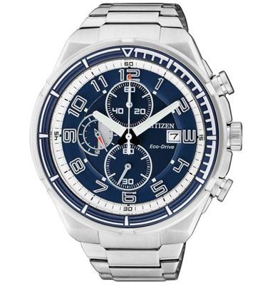 שעון יד כרונוגרף לגבר עם טעינה סולארית ECO DRIVE ללא צורך בסוללה מבית CITIZEN דגם CL-CA049150L