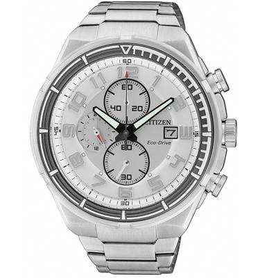 שעון יד כרונוגרף לגבר עם טעינה סולארית ECO DRIVE ללא צורך בסוללה מבית CITIZEN דגם CL-CA049052A