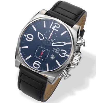 שעון כרונוגרף לגבר מבית ADI עשוי פלדת אל חלד ועמיד במים עד 100M מבית ADI דגם 19-3485-999